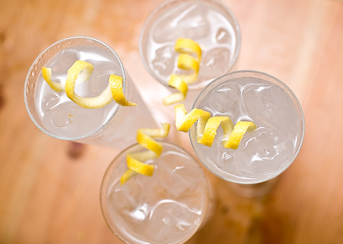 Tom Collins cocktails are usually made with gin, but vodka works great too