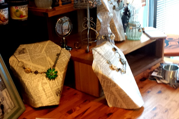 Java Jive supports local artisans by displaying their crafts in the store