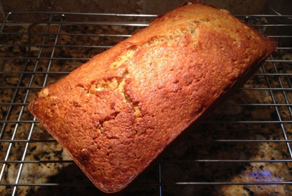 Pumpkin bread with with homemade pumpkin puree