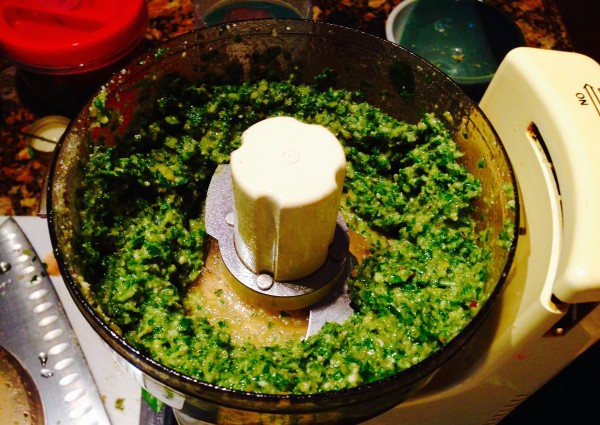 Its easy to make your own fresh pesto
