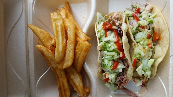 You'll find pulled pork and beef brisket tacos on The Humble Pig menu.