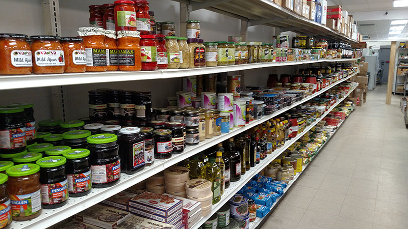 International condiments and cooking supplies at A&S Harmony International Market.