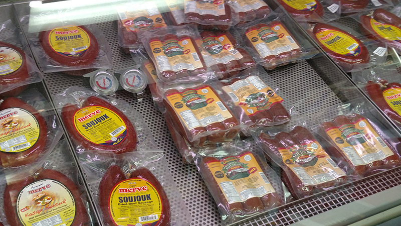 Mediterranean sausages from A&S Harmony International Market.