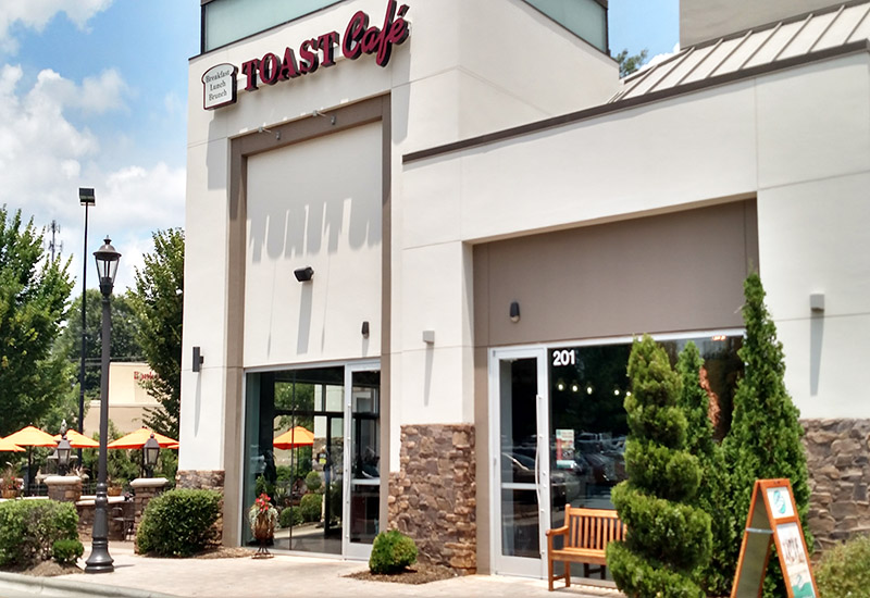 The Famous Toastery, formerly known as Toast Café, location on Colonnades Way.
