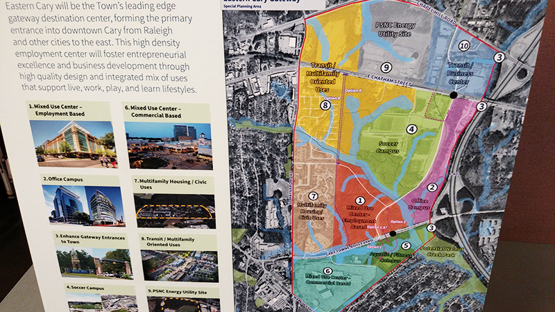 The Eastern Gateway plans from Imagine Cary